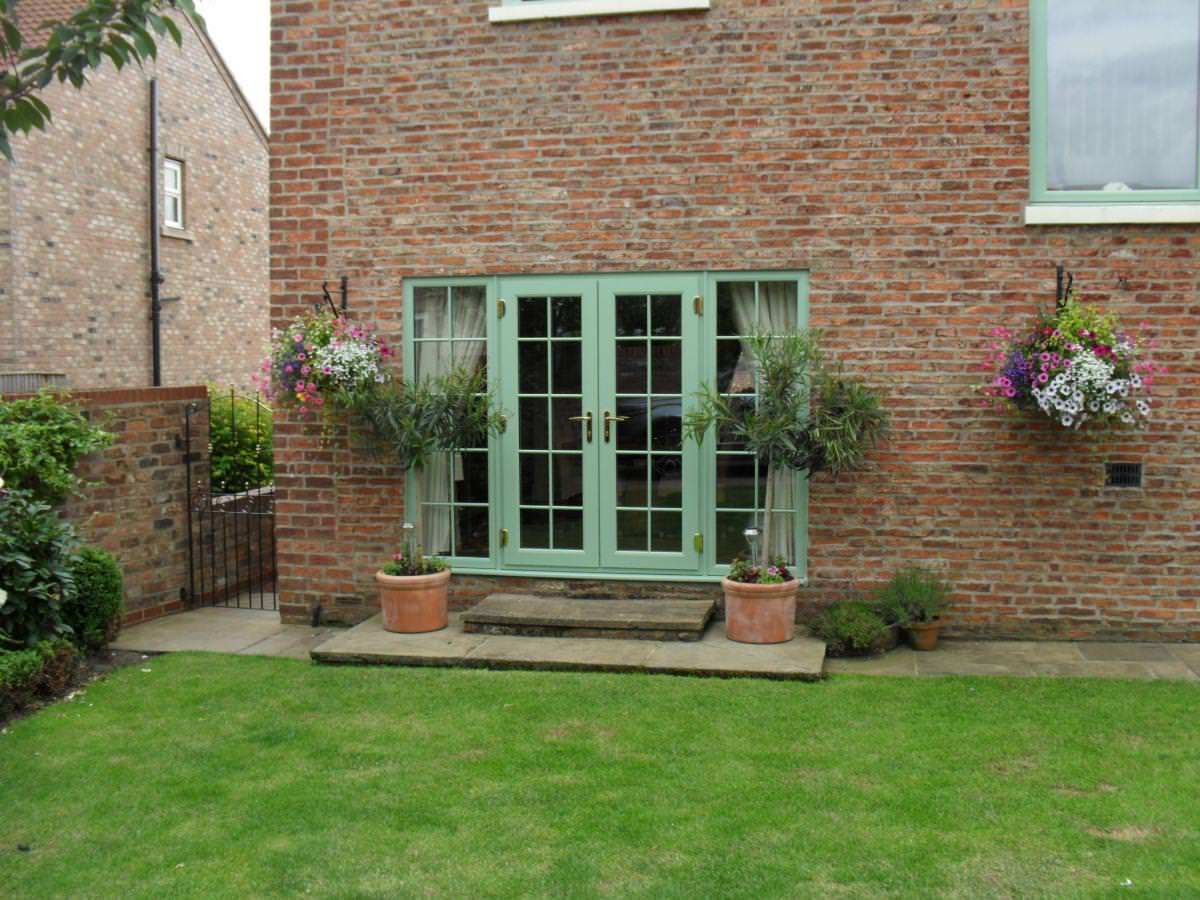 Green windows carspart for Green french doors