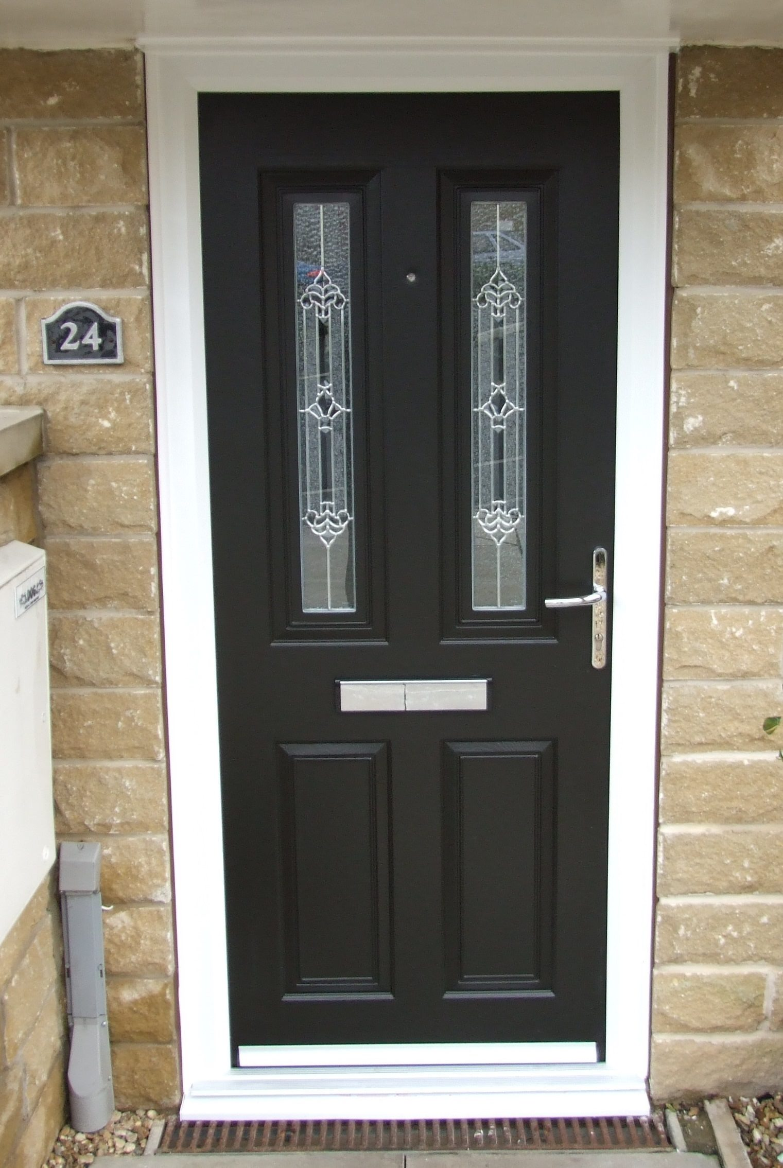 Composite door black composite eclat black esteemarch for Composite windows