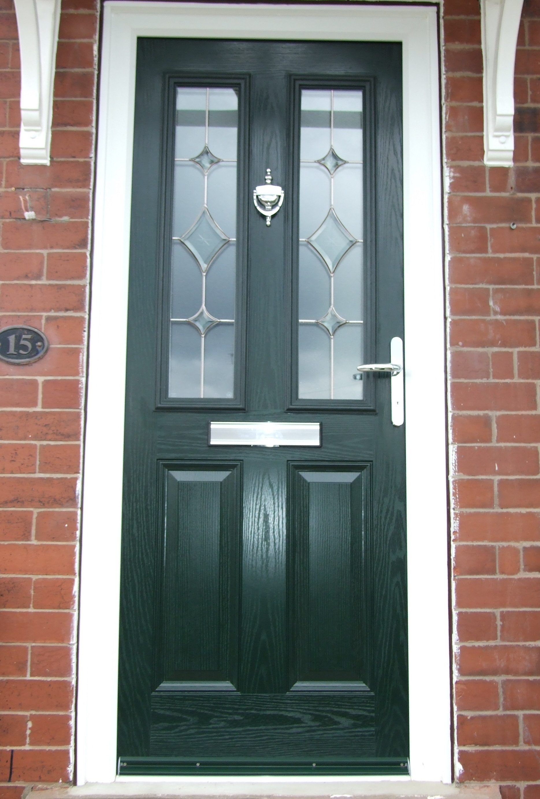 Composite door black composite eclat black esteemarch for Composite front doors