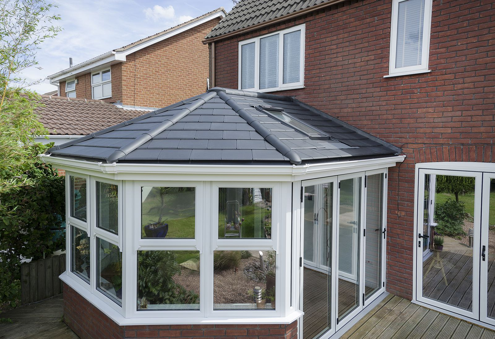 Tiled roof conservatories bradford leeds conservatory for French doors barnsley