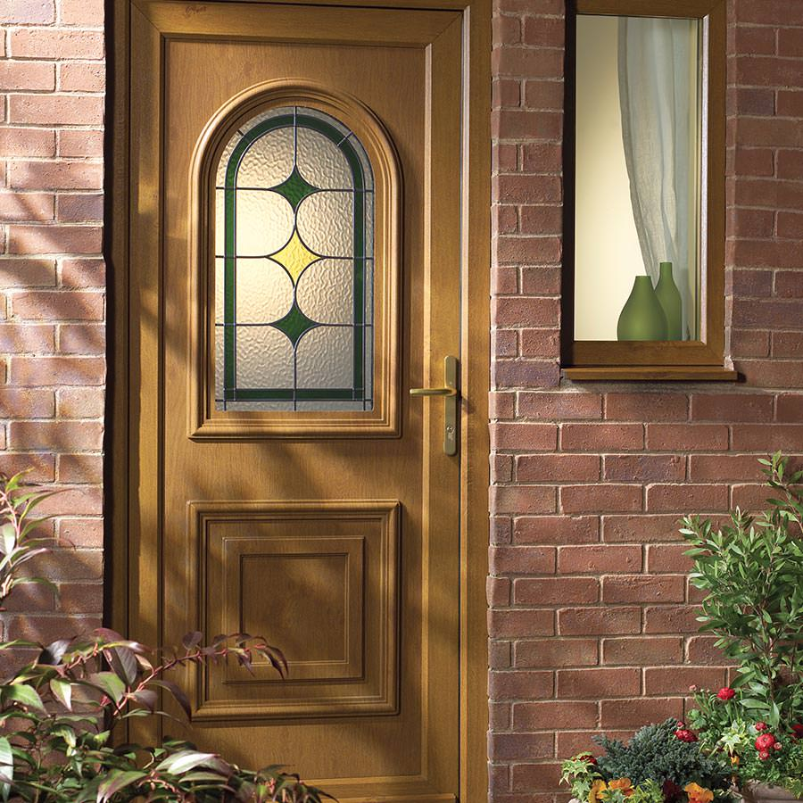 Light Oak Upvc Door Kingfisher Windows